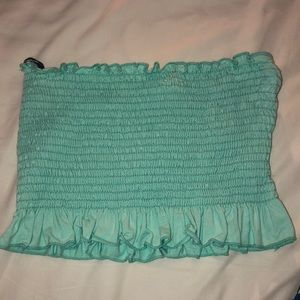 Teal tube top from forever21